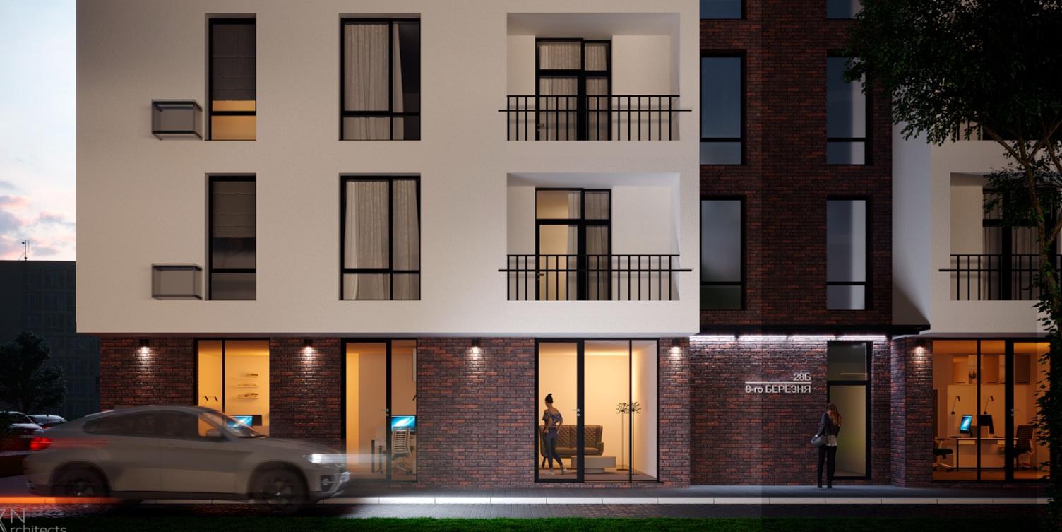 Багатоквартирний житловий будинок по 8-Березня, 28Б (м. Ужгород) - Проектна група ФОП РІЗАК ВАСИЛЬ ВАСИЛЬОВИЧ